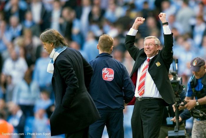 Sir Alex Ferguson et Roberto Mancini