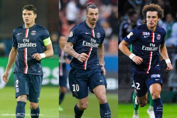 Thiago Silva, David Luiz et Zlatan Ibrahimovic