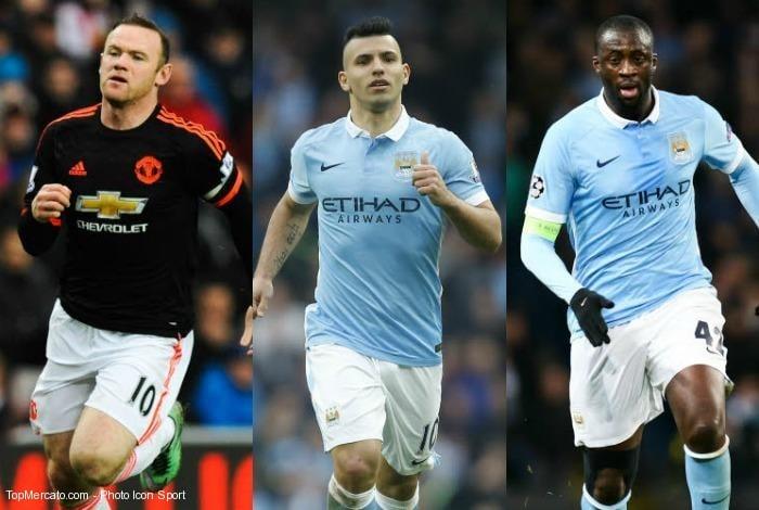 Wayne Rooney-Sergio Agüero-Yaya Touré