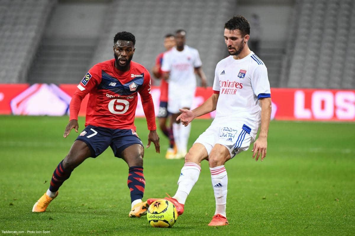 Jonathan Bamba et Leo Dubois, Lille - Lyon