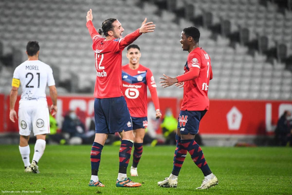 Match Lille LOSC - Lorient, Yusuf Yazıcı