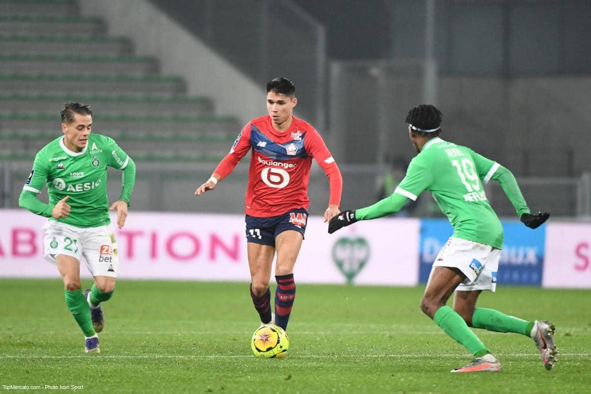 Luiz Araújo, Match Saint-Etienne - Lille