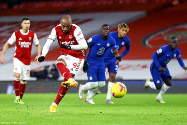 Lacazette, match Arsenal - Chelsea