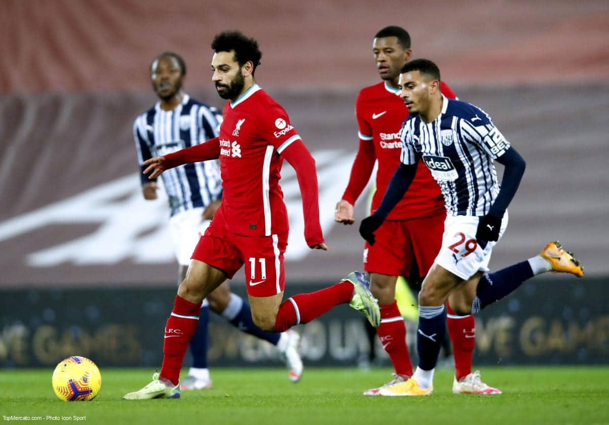 Mohamed Salah, match Liverpool - West Bromwich Albion