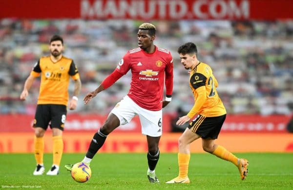 Paul Pogba, match Manchester United - Wolverhampton