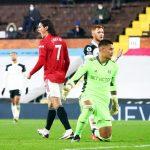Edinson Cavani, match Fulham - Manchester United