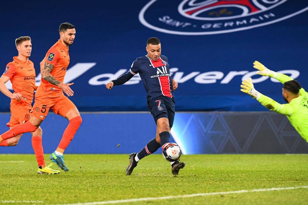 Kylian Mbappé, match PSG-Montpellier