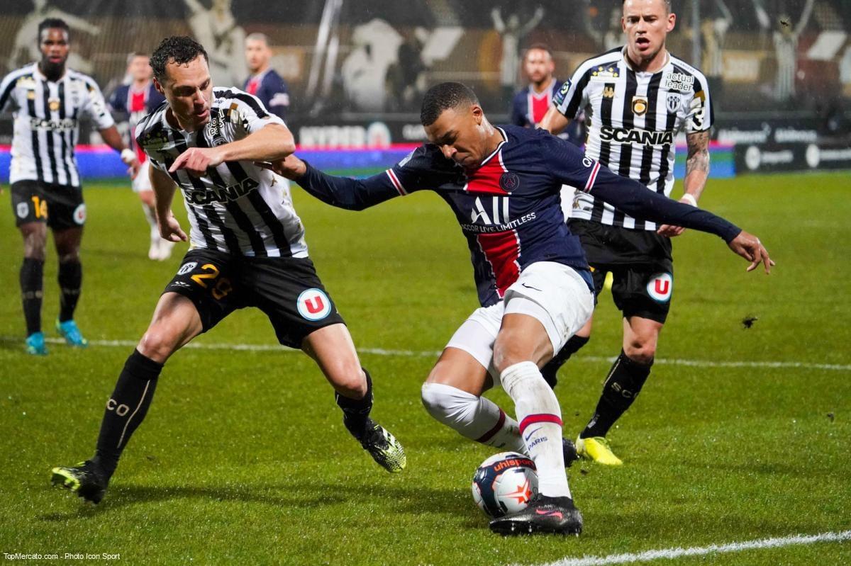 Kylian Mbappé, match Angers - PSG