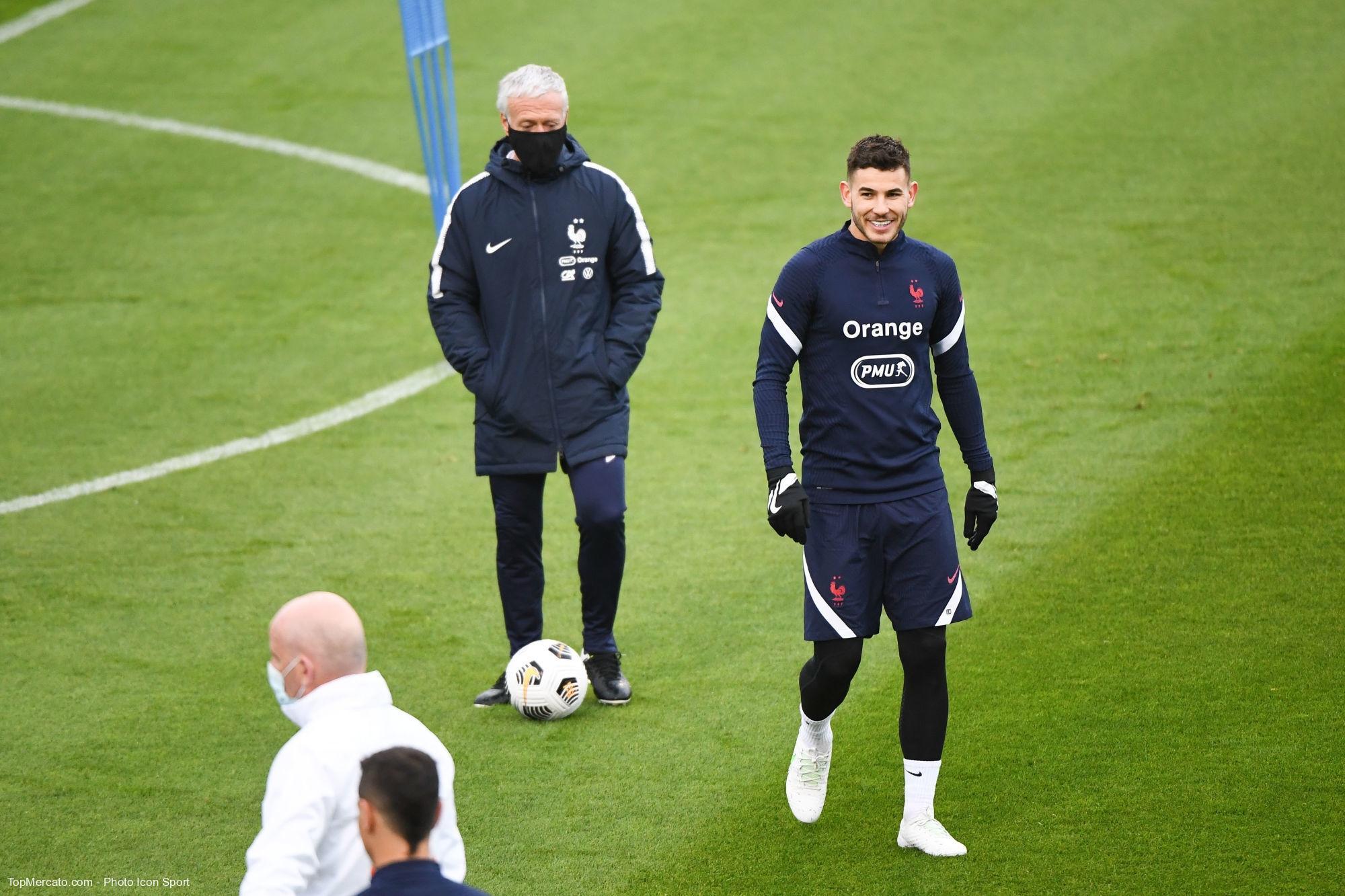 Lucas Hernandez et Didier Deschamps