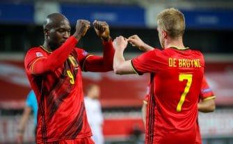 Romelu Lukaku et Kevin de Bruyne Belgique