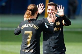 Antoine Griezmann et Lionel Messi, Villarreal-Barça