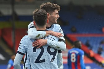 Christian Pulisic et Kai Havertz, Crystal Palace-Chelsea