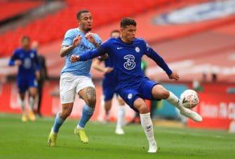 Gabriel Jesus et Thiago Silva, Chelsea-Manchester City