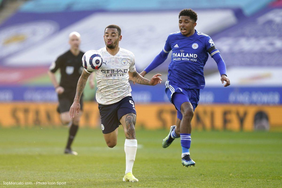 Gabriel Jesus et Wesley Fofana, Leicester City-Manchester City