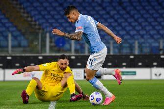 Joaquin Correa et Gianluigi Donnarumma, Lazio Rome-Milan AC