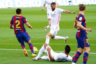 Karim Benzema, Barça FC Barcelone - Real Madrid