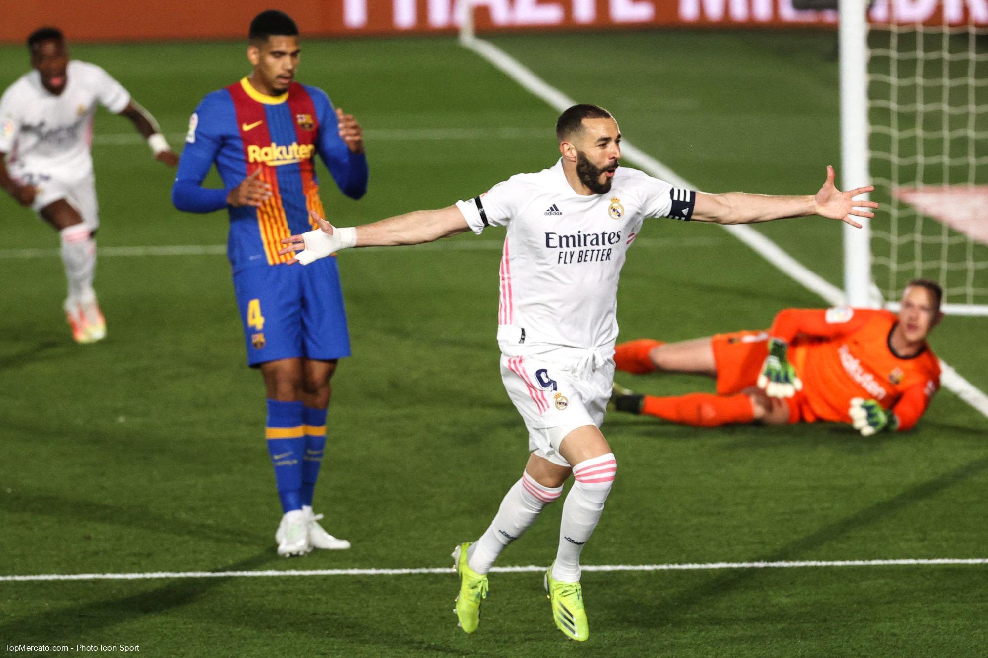 Karim Benzema, Real Madrid-FC Barcelone