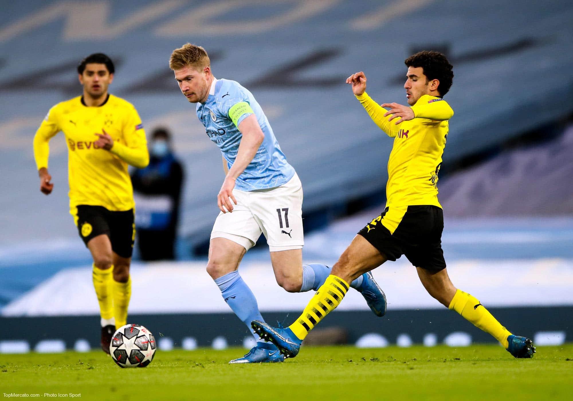 Kevi de Bruyne et Mateu Morey, Manchester City - Borussia Dortmund