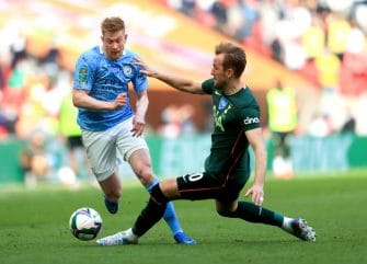 Kevin De Bruyne et Harry Kane, Man City-Tottenham