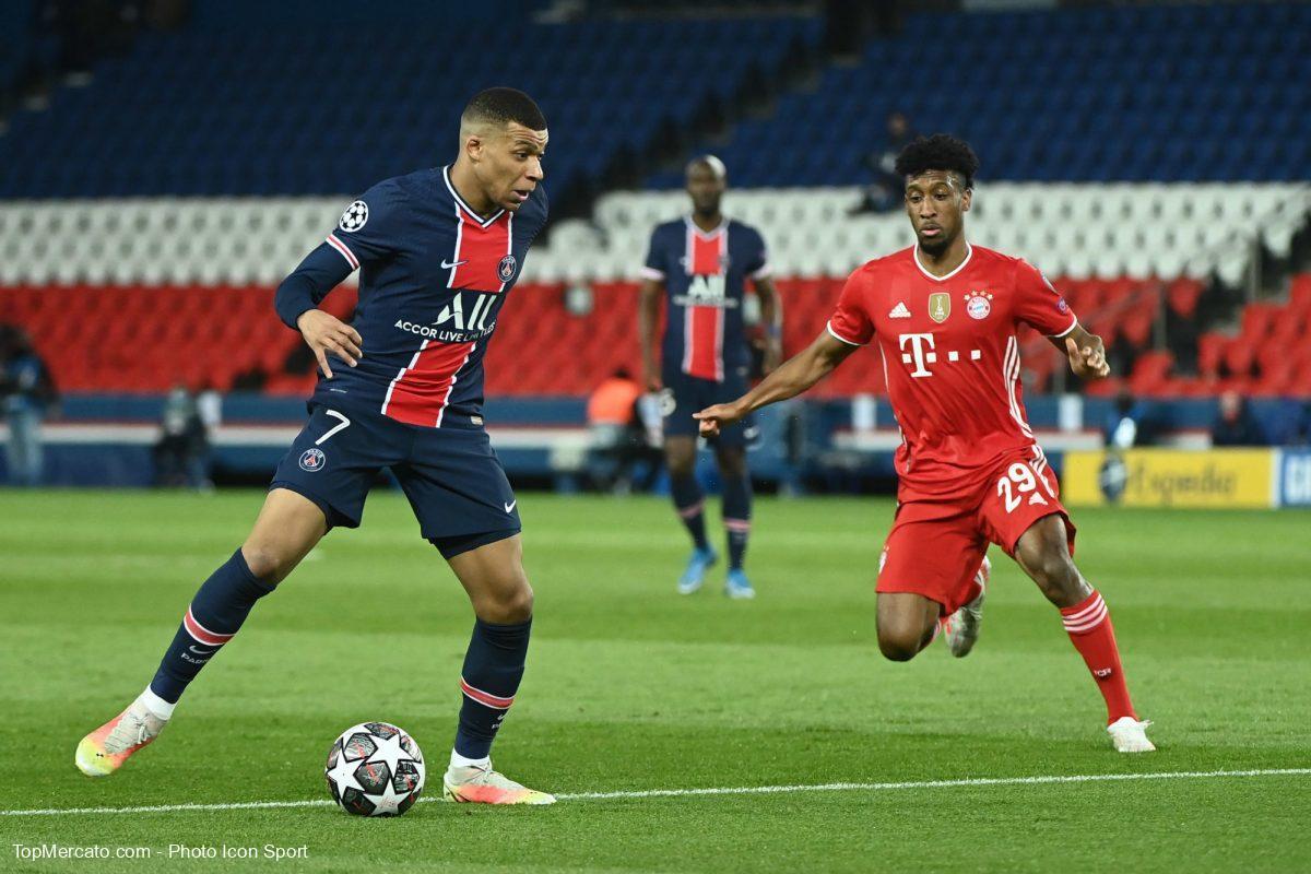 Kylian Mbappé et Kingsley Coman, PSG-Bayern Munich
