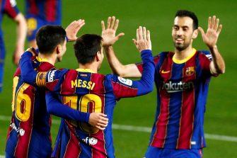 Lionel Messi et Sergio Busquets, Barcelone-Getafe