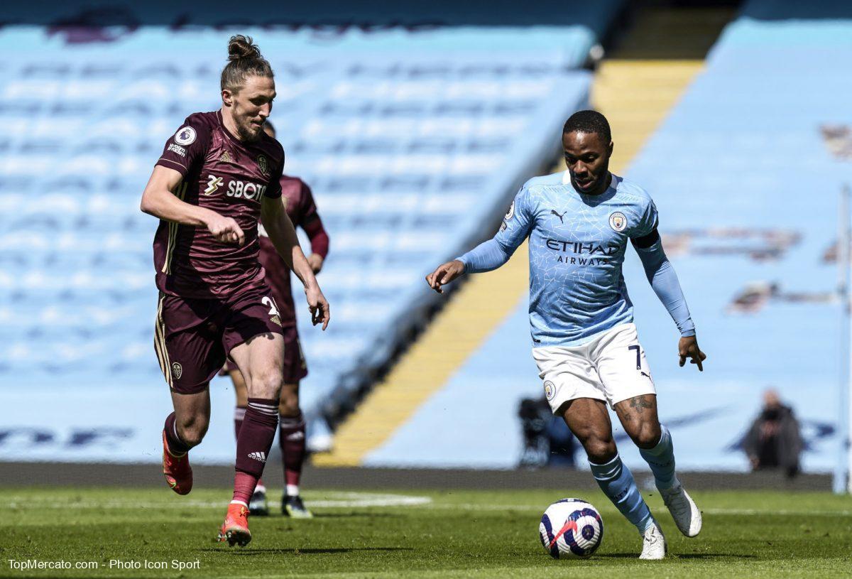 Luke Ayling et Raheem Sterling, Manchester City-Leeds United