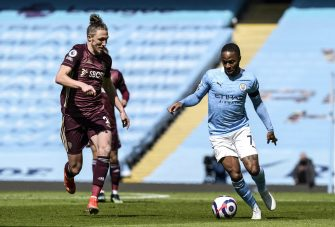 Luke Ayling et Raheem Sterling, Manchester City-Leeds United