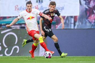 Marcel Sabitzer et Thomas Müller, Leipzig-Bayern Munich