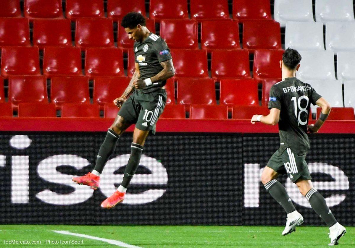 Marcus Rashford et Bruno Fernandes, Grenade-Manchester United