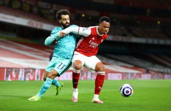 Mohamed Salah et Gabriel, Arsenal-Liverpool