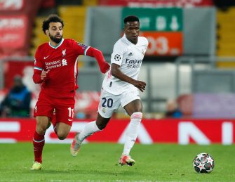 Mohamed Salah et Vinicius Jr, Liverpool - Real Madrid