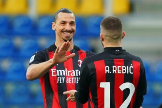 Zlatan Ibrahimovic et Ante Rebic, Parme-Milan AC