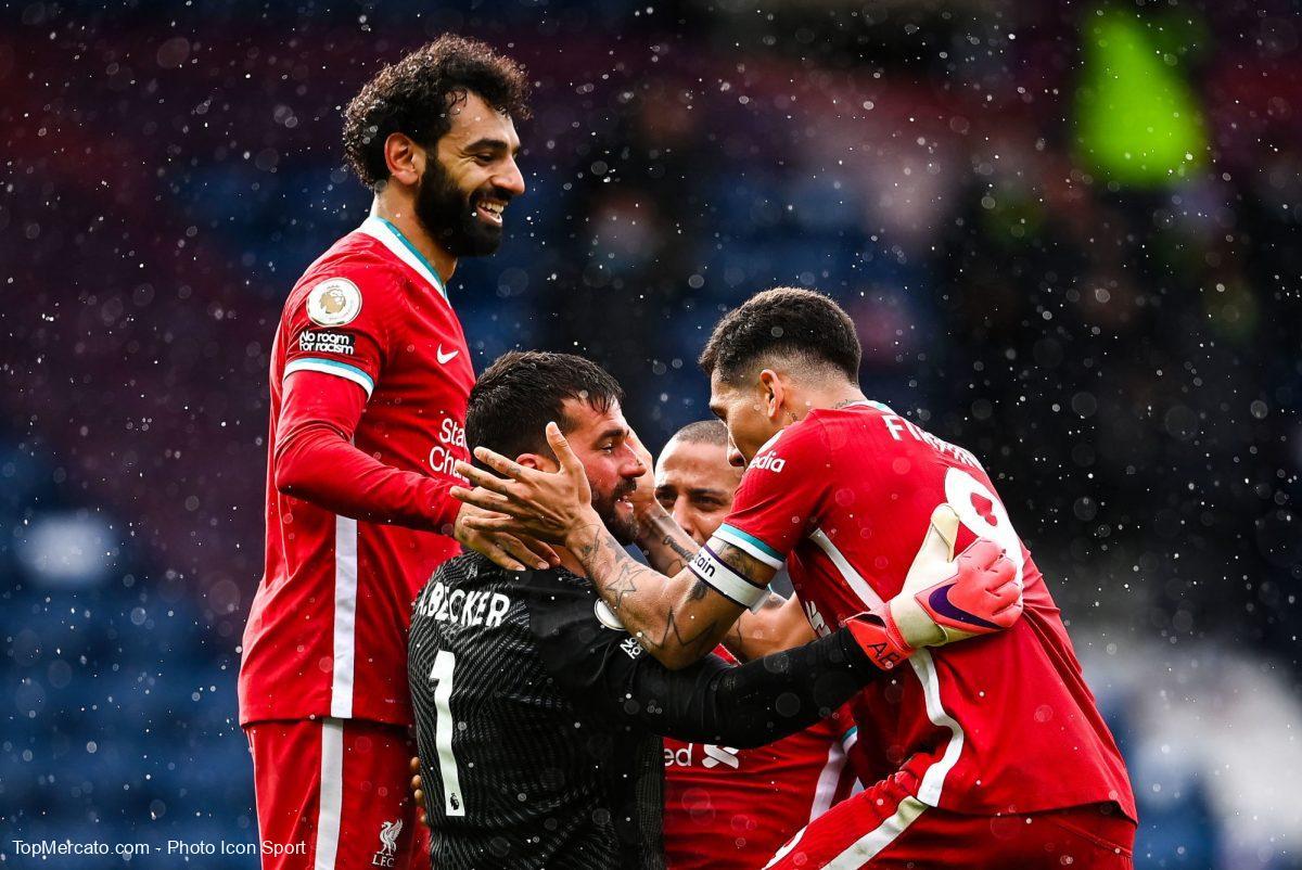 Alisson Becker, Mohamed Salah, Liverpool WBA