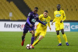 Bafodé Diakité et Andrei Girotto, match Nantes - Toulouse