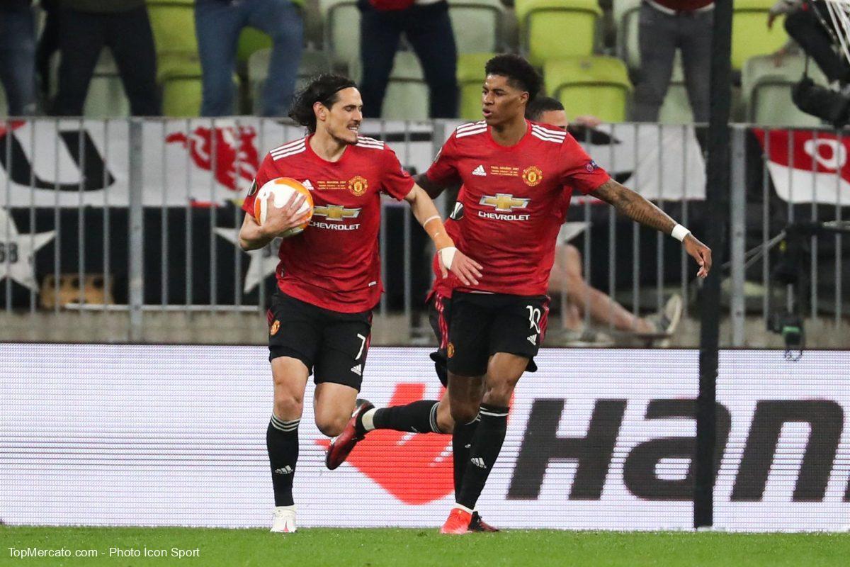 Edinson Cavani et Marcus Rashford, Villarreal-Man Utd