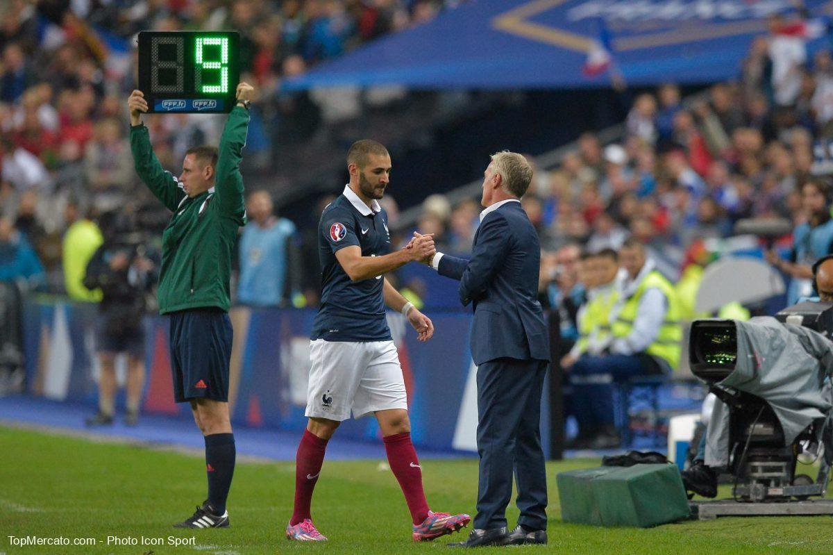 Karim Benzema et Didier Deschamps, Equipe de France