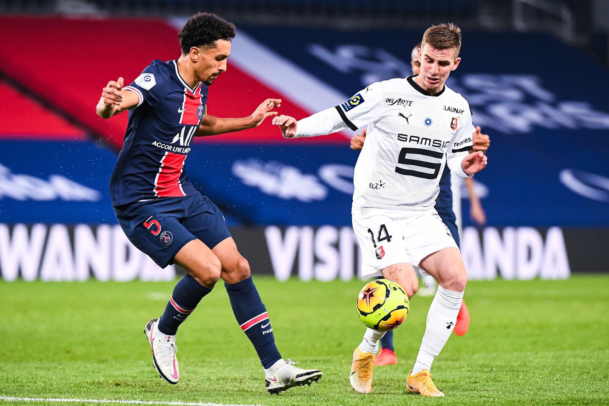 Marquinhos et Bourigeaud, PSG - Rennes