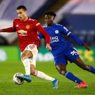 Mason Greenwood et Wilfred Ndidi, Manchester United - Leicester