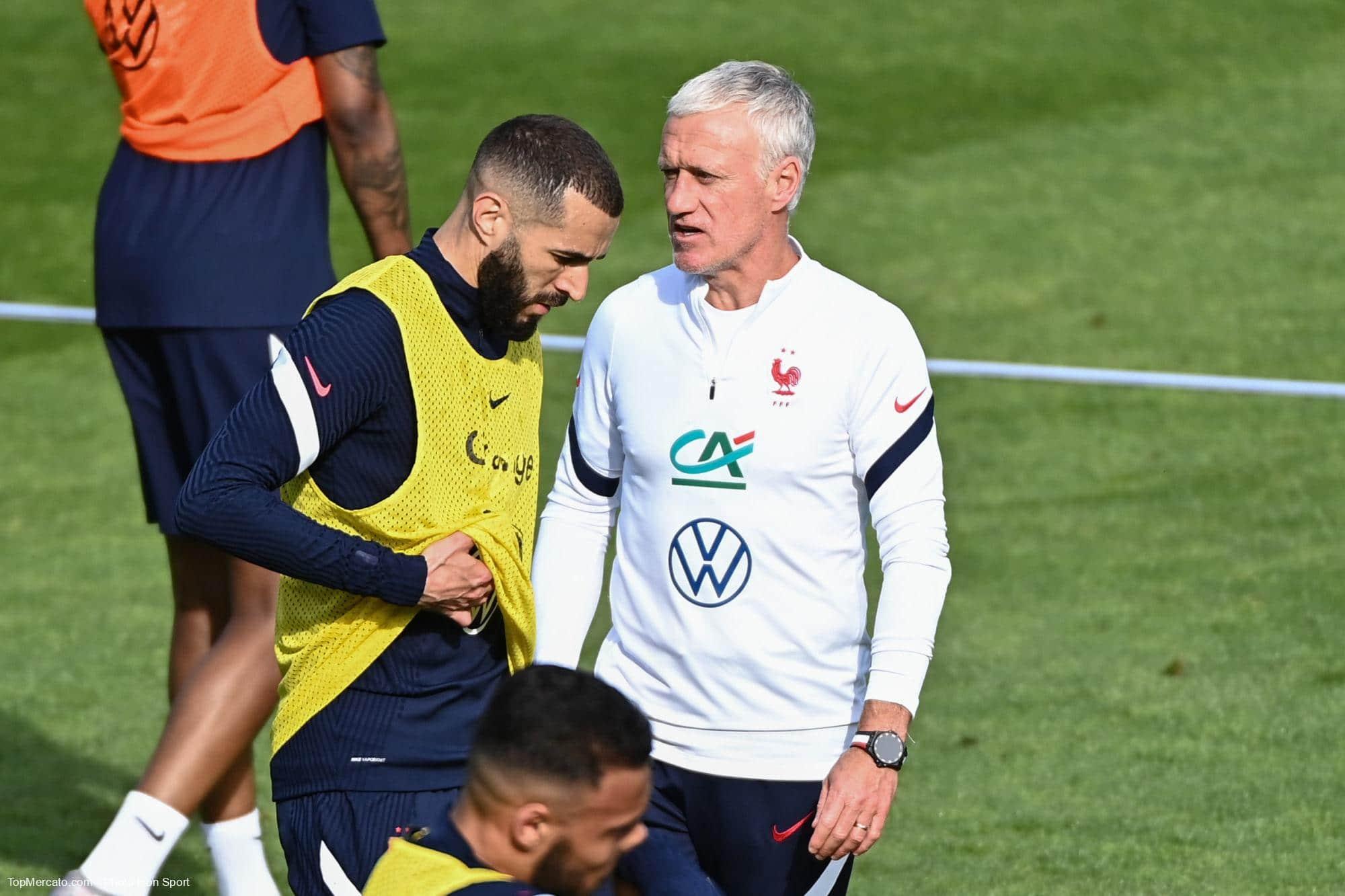 Didier Deschamps et Karim Benzema, Equipe de France