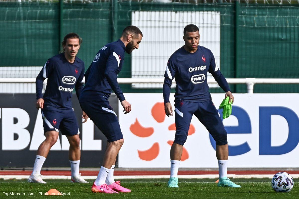 Griezmann, Mbappé et Benzema, Equipe de France