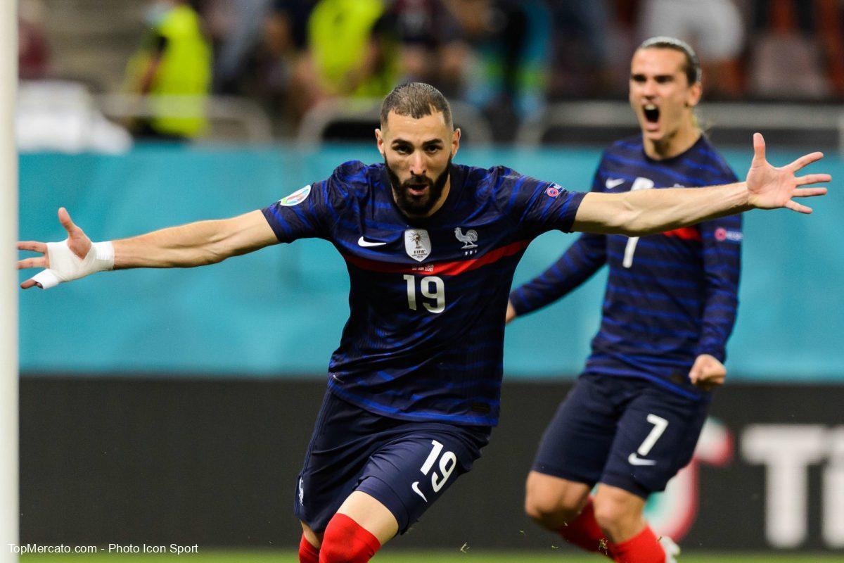 Karim Benzema et Antoine Griezmann, équipe de France