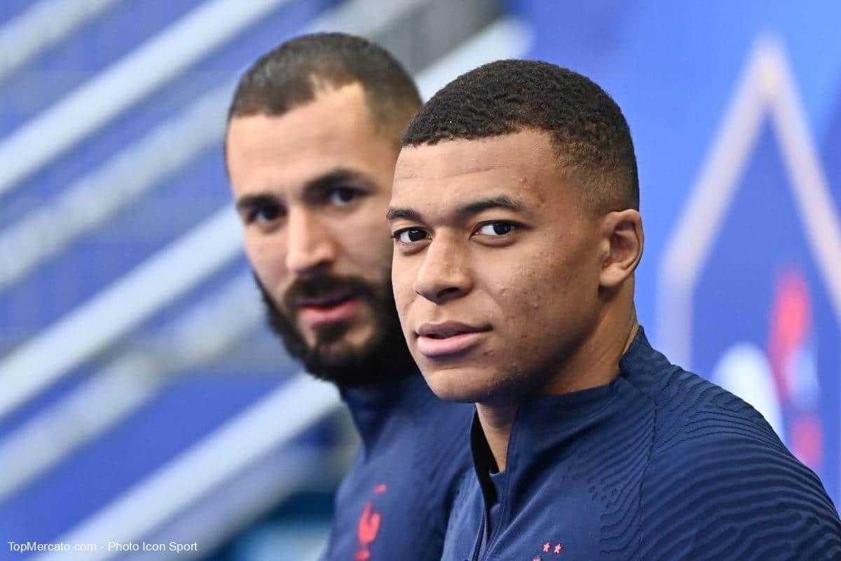 Kylian Mbappé et Karim Benzema