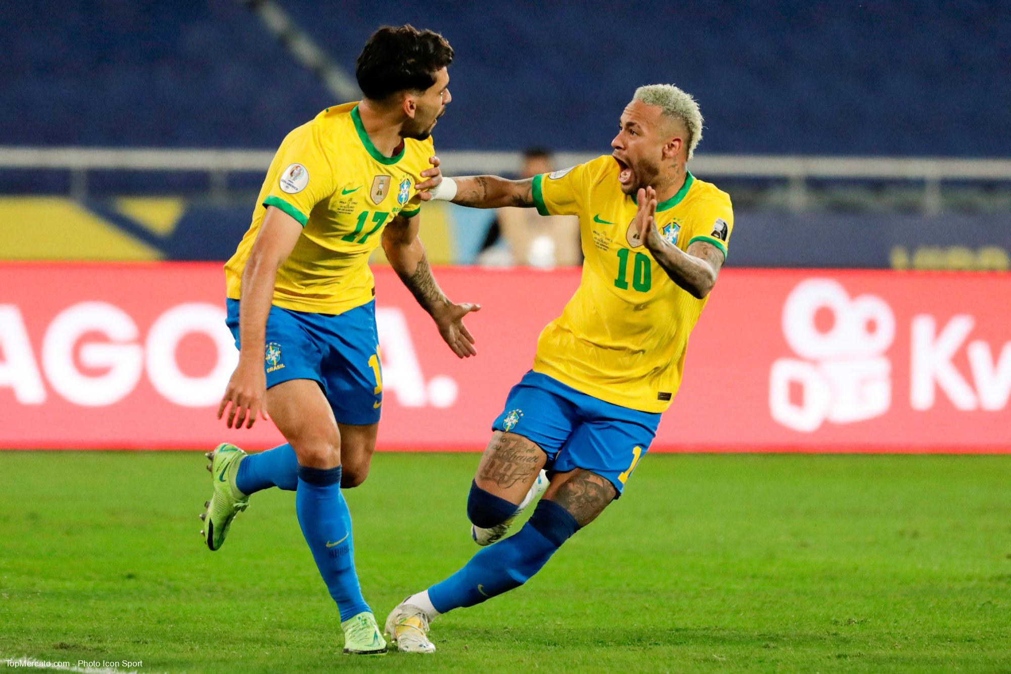 Lucas Paqueta et Neymar, Brésil