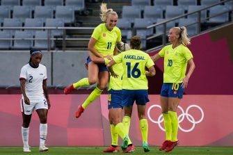 Suède-USA, Jeux de Tokyo