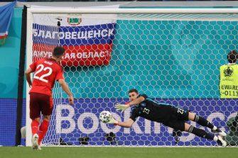 Unai Simon, équipe d'Espagne contre la Suisse