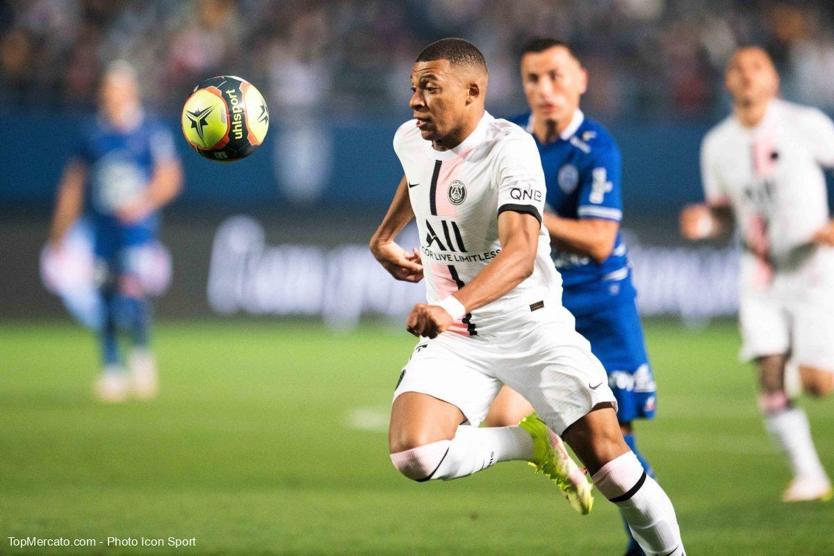 Kylian Mbappé, PSG-Troyes