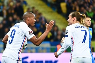 Anthony Martial et Antoine Griezmann, Ukraine-France