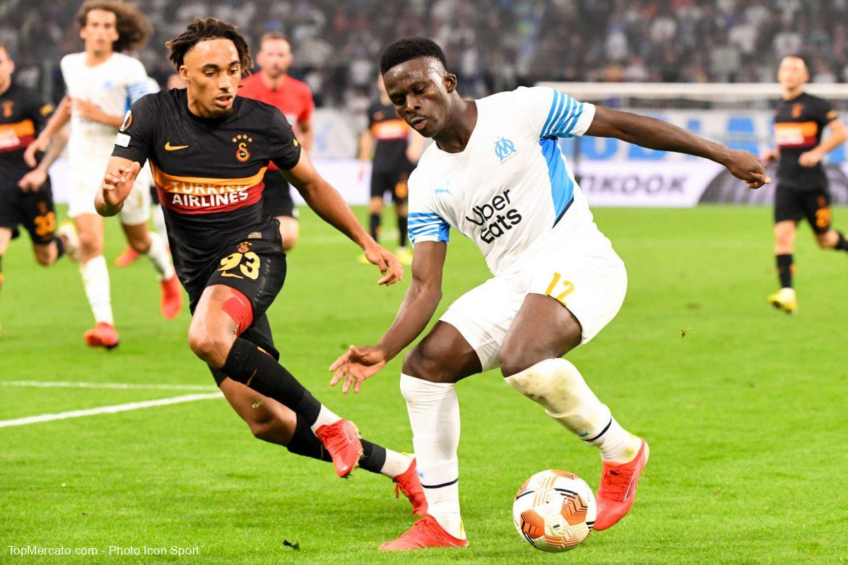 Bamba Dieng et Sacha Boey, match Olympique de Marseille-Galatasaray
