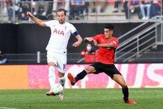 Harry Kane et Nayef Aguerd, Rennes-Tottenham