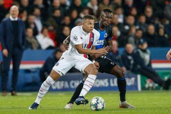 Kylian Mbappé, match PSG - Bruges